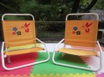 Day 25 Stenciled Beach Chairs